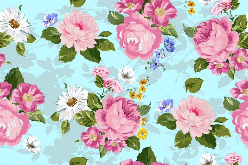 Floral pattern. Fashion vector background