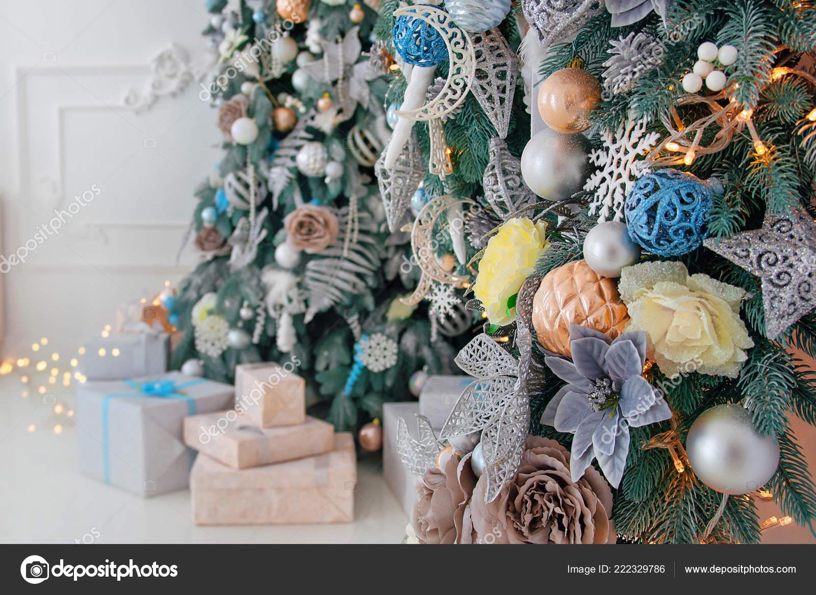 Bright White Interior Christmas New Year Tree Decor Lights Bright