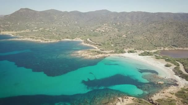 drone view of a cove in Sardinia