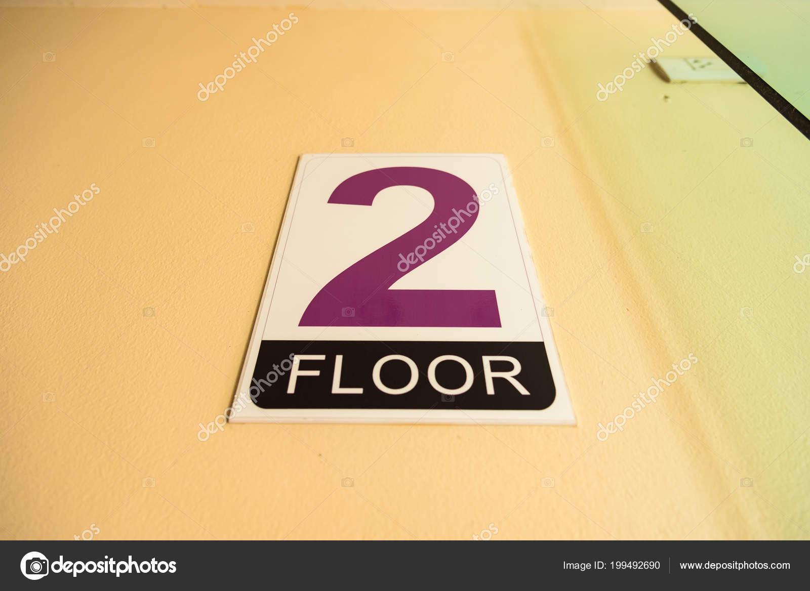 Signs Floor Building Varee Diva Kiang Haad Beach Hotel Hua Stock
