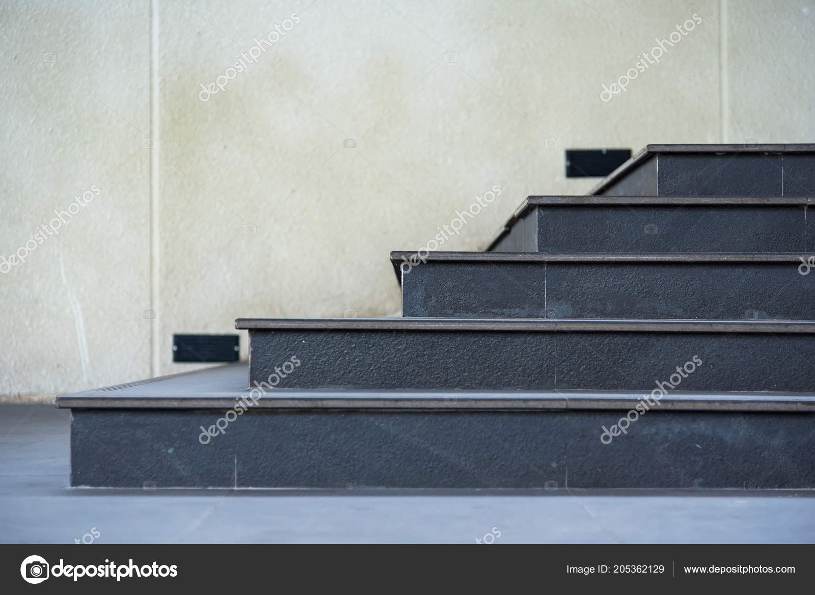Perspective Black Granite Staircase Thailand Stock Photo C Bubbers 205362129