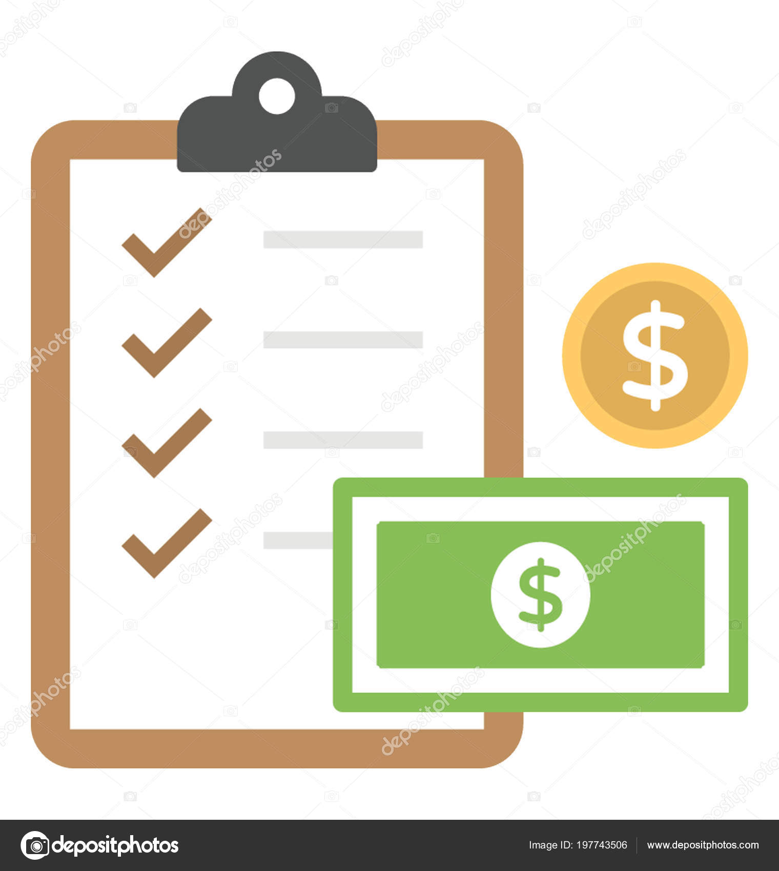 clipboard checklist depicts financial planning activity task