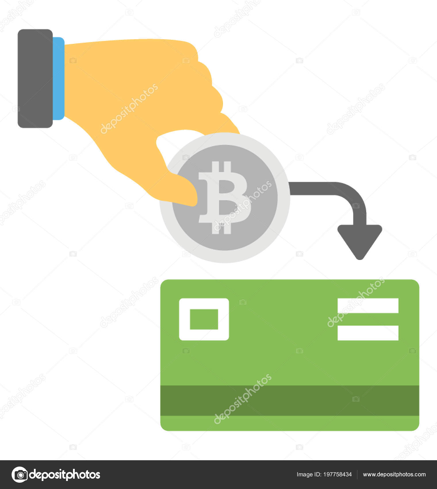Icon Symbolising Hand Performing Direct Bitcoin Payment Faucet Hub
