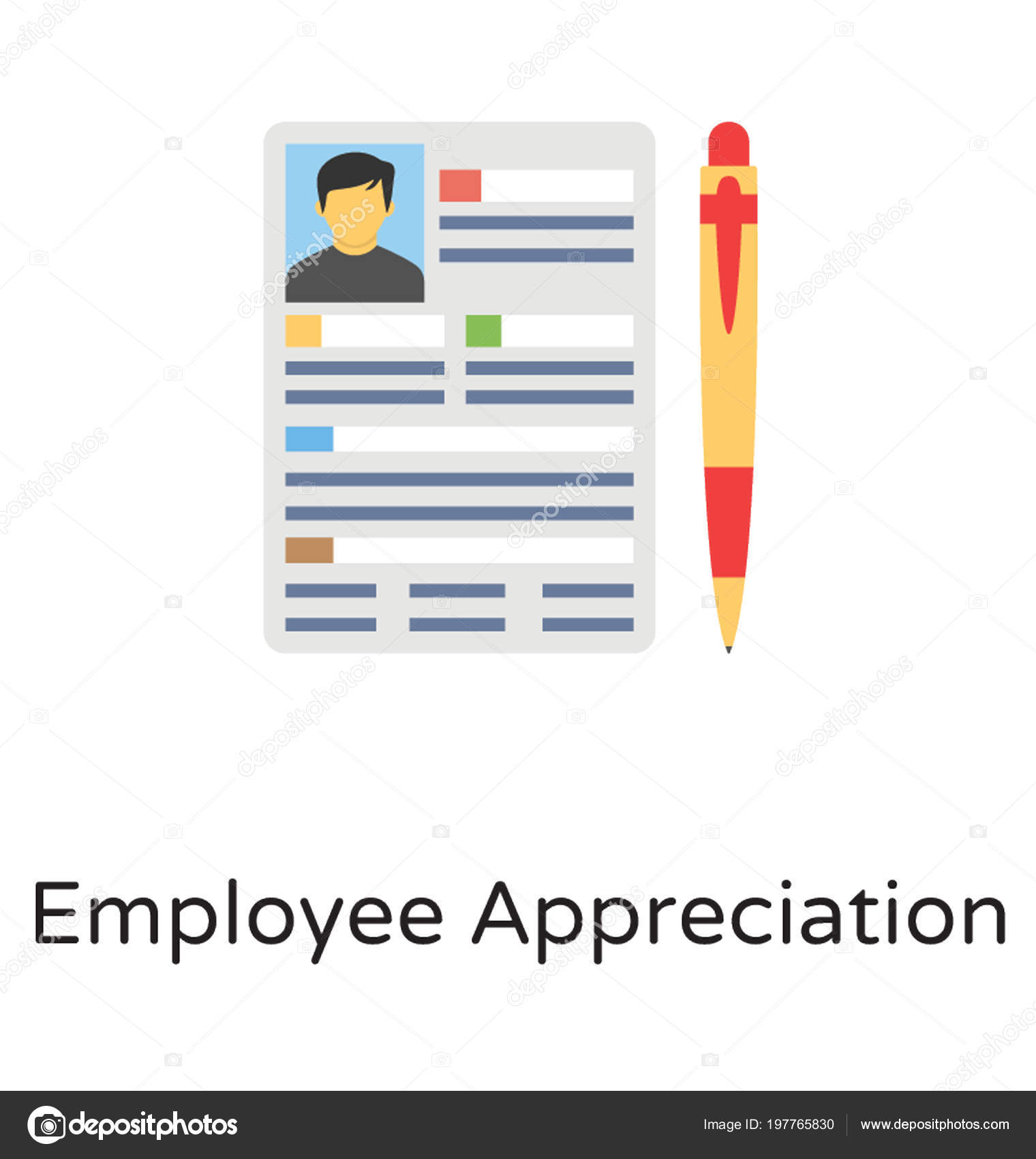employee progress report pen icon perfectly depicting idea employee