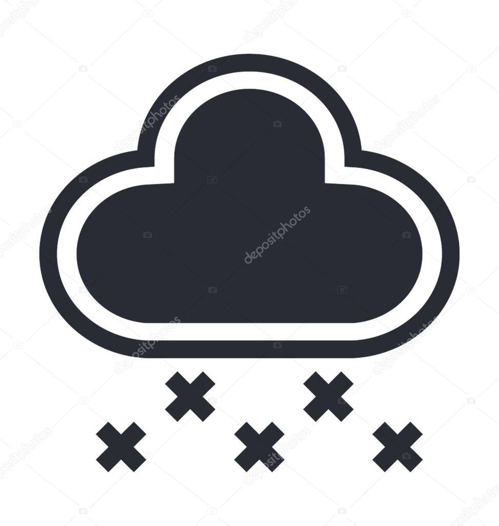 Snowfall Flat Vector Icon