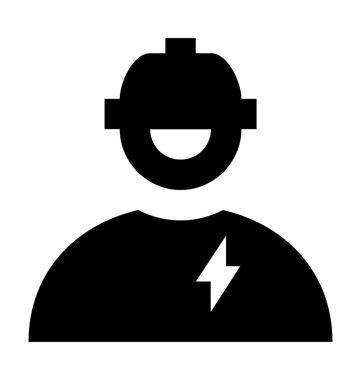 Electrician Flat Vector Icon