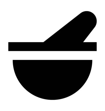 Mortar Pestle Flat Vector Icon