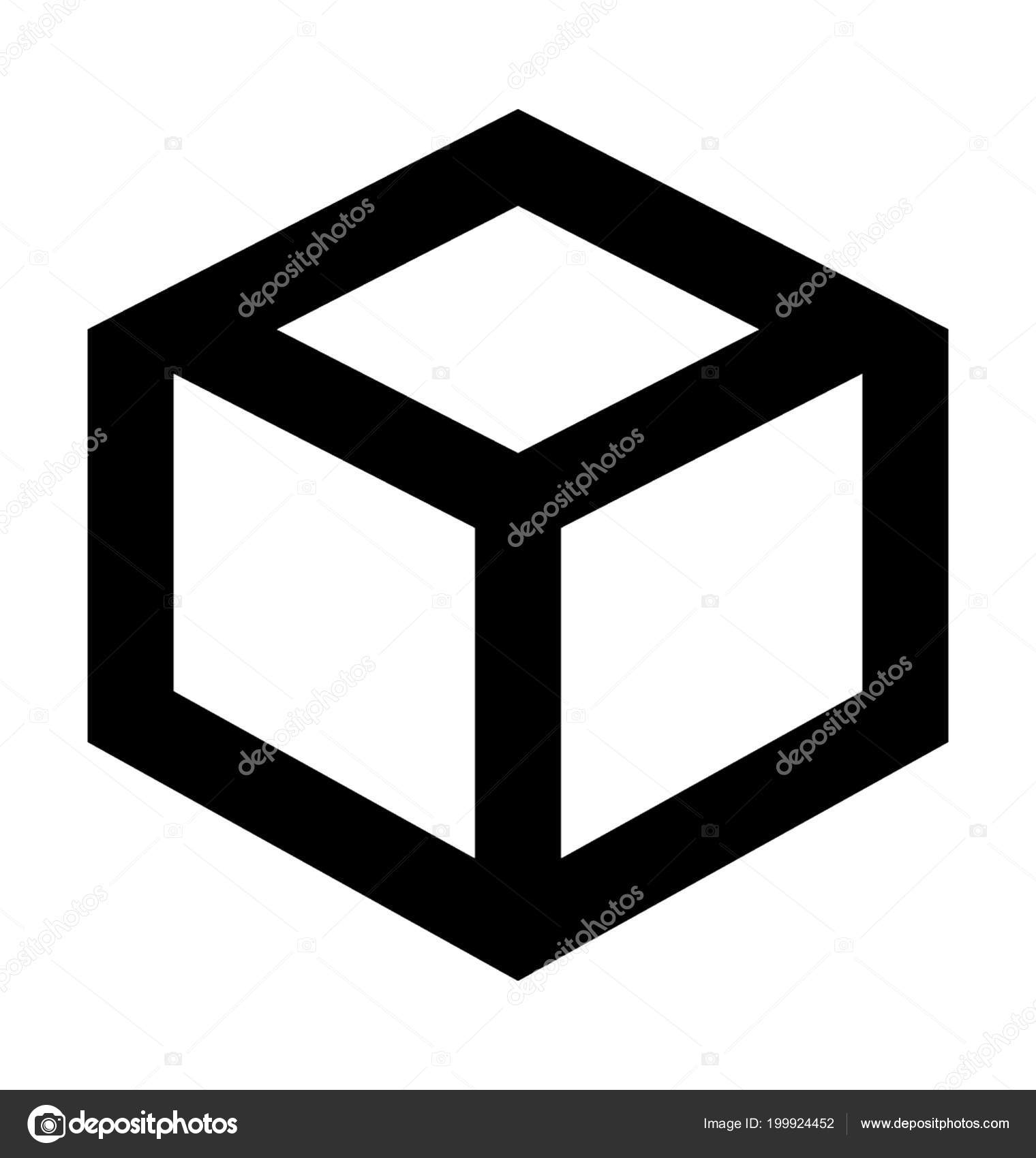 Cube Shape Flat Vector Icon — Stock Vector © creativestall