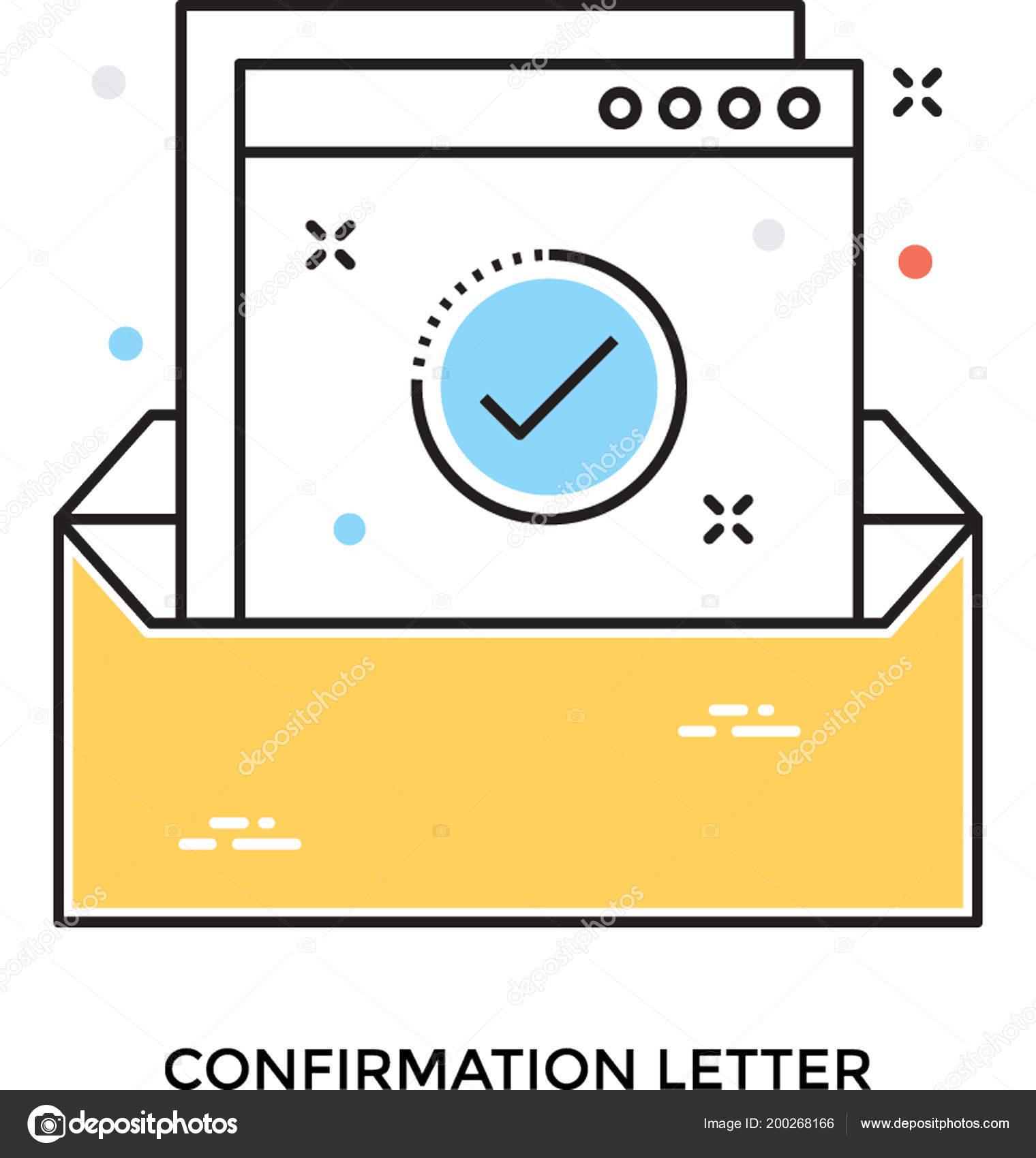 Bestätigung Brief Flache Vektor Icon Stockvektor Creativestall