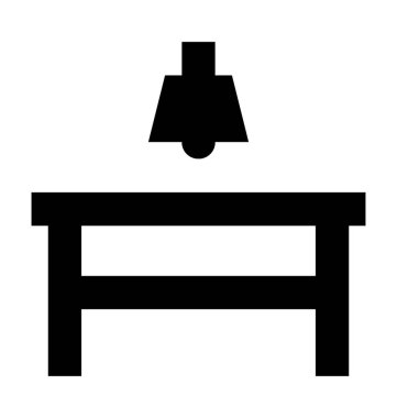 Dining Table Flat Vector Icon