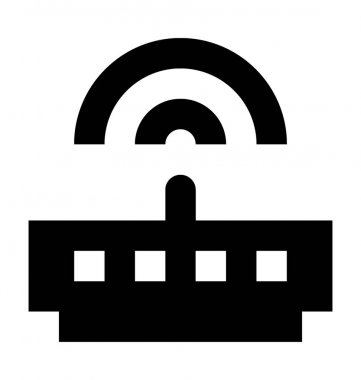 WiFi Router Flat Vector Icon