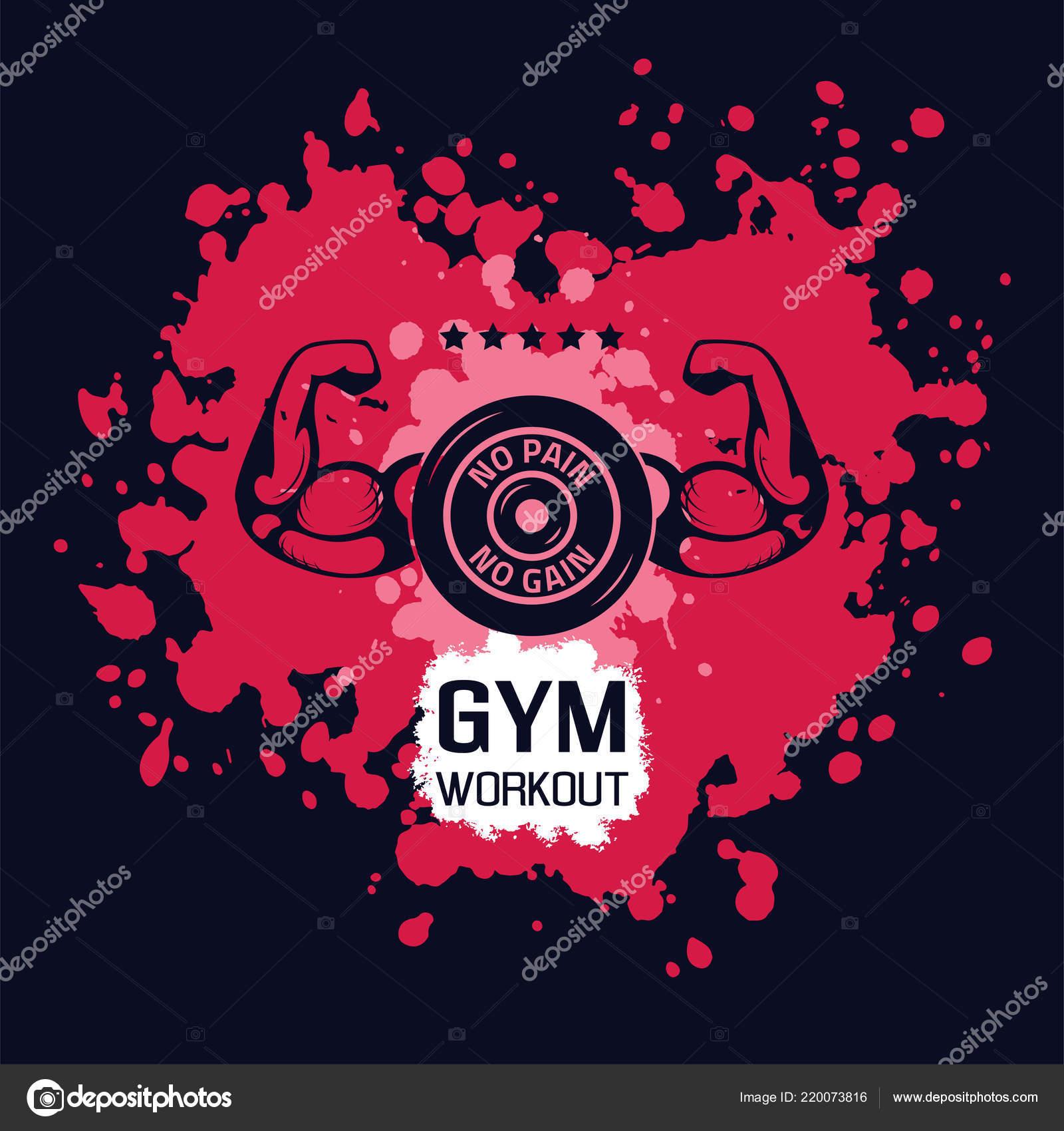 No Pain No Gain Wallpaper Bodybuilding No Pain No Gain Stock