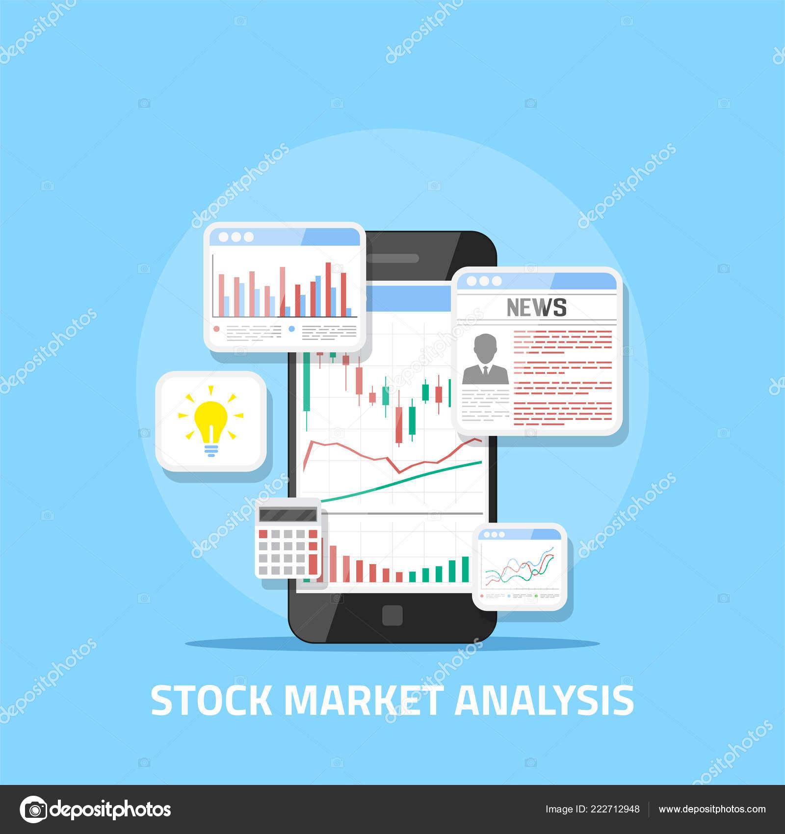 c3c0ed1904 analisi del mercato azionario — Vettoriali Stock © Den.the.Grate ...