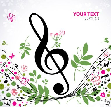 Music. Spring bright musical background
