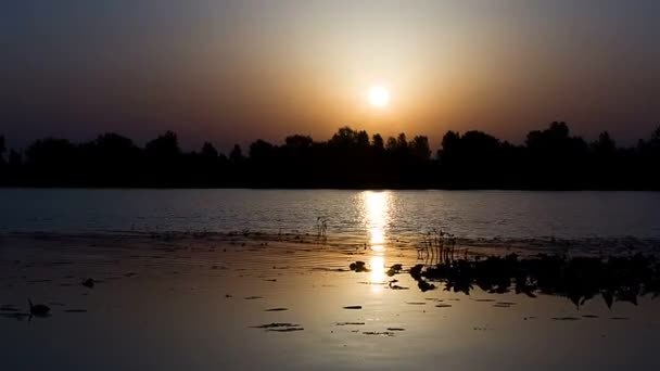 time lapse of Sunrise over river, timelapse landscape with sunrise over river,  timelapse of sunrise at the river trees, landscape with sunrise over river,