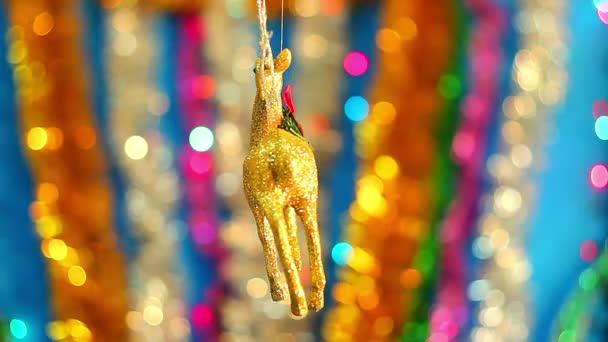 Vánoční pozadí, drahá a svíčka vánoční hračka, milý vánoční hračky