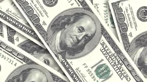 Pozadí s americkou SIPO. Hotovostní peníze pozadí. Rotace papírové dolary