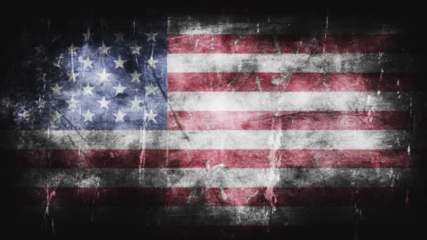 Grunge flag of United States of America background Animation