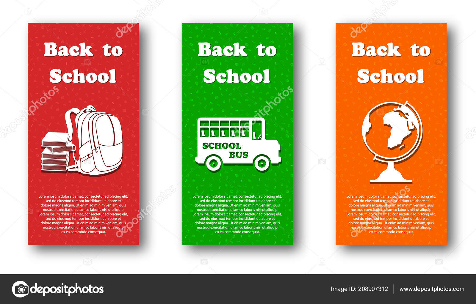 vector design template set for back to school ストックベクター