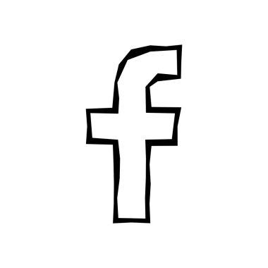 Letter f icon. Social media icon. Facebook logo vector illustration.