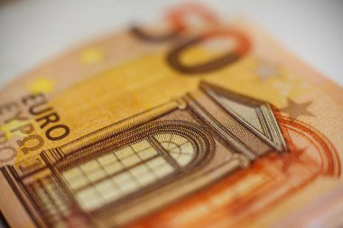 European currency, note of 50 euros. It can be used as a background