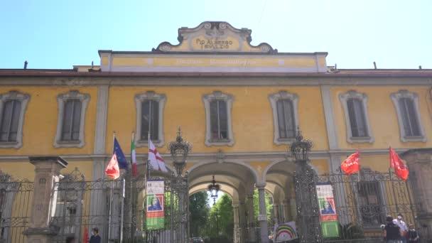 Europe, Italy , Milan 13 april 2020 - Pio Albergo Trivulzio retirement home for elderly people during quarantine due n-cov19 Coronavirus epidemic - many victims in the hospital