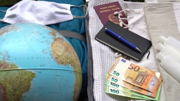Europe, Italy, Milan, phase 2 begins with greater freedom for people locked in the house for quarantine from covid19 Coronavirus - suitcase ready to leave for the summer, desire to resume travel