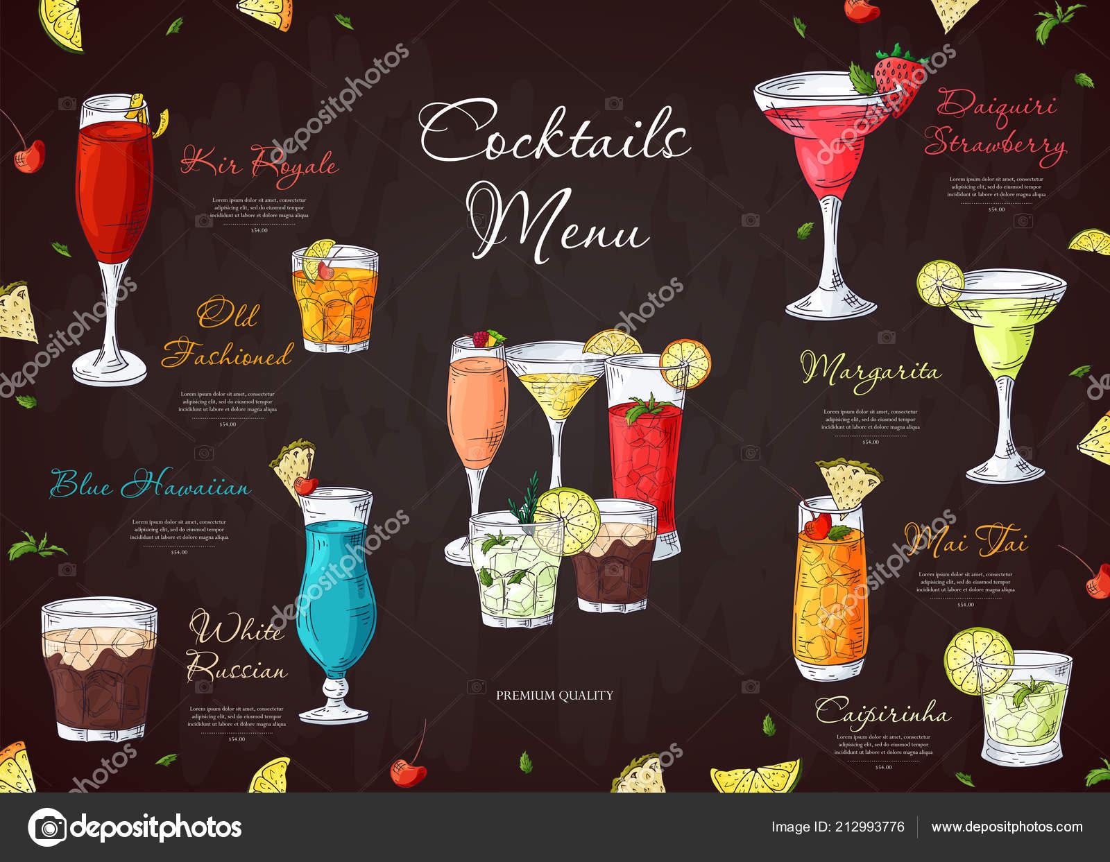 Алкогольные напитки в кафе