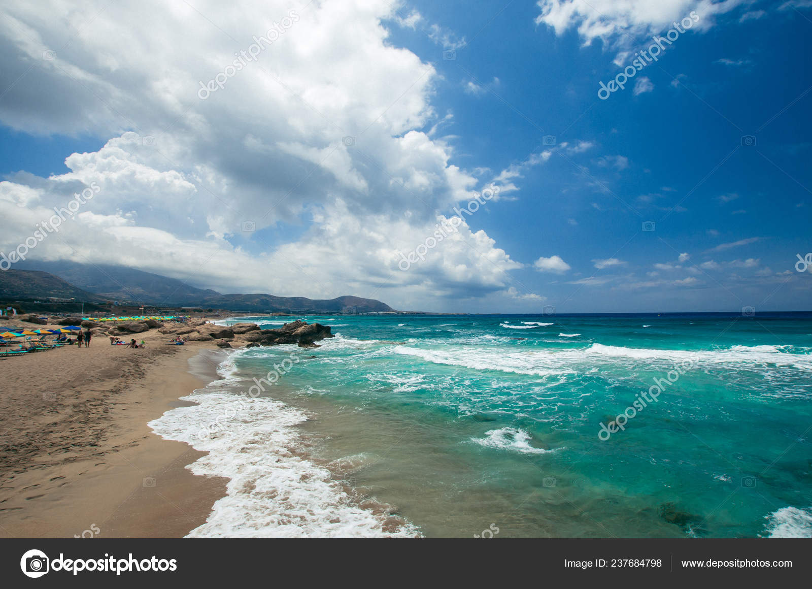 Falasarna Beach Crete Island Greece Falassarna One Best
