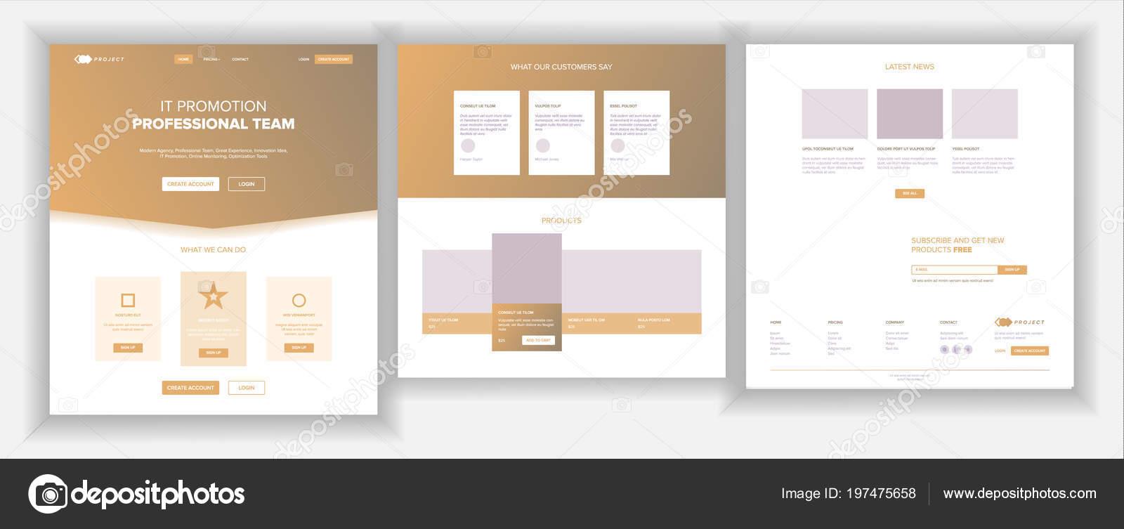 Hauptwebseite Design Vektor Webseite Business Bildschirm