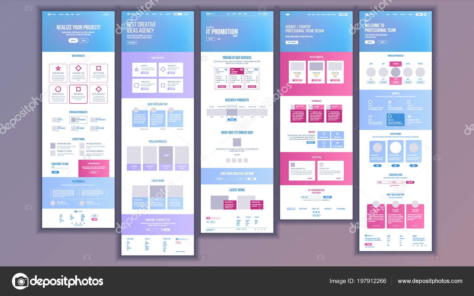 Vector de plantilla de página web. Página fondo de negocios. Página ...