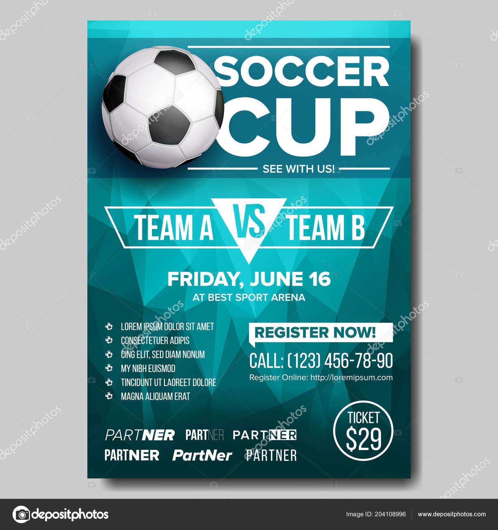 Piłka Nożna Plakat Wektor Piłki Nożnej Projekt Promocji