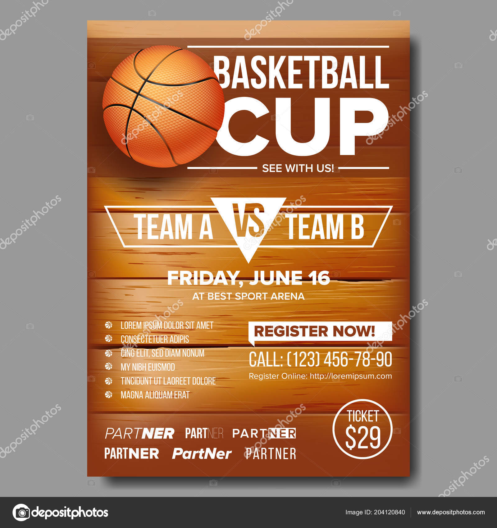 design for sports bar promotion basketball ball tournament sport event announcement banner advertising game flyer leaflet template illustration