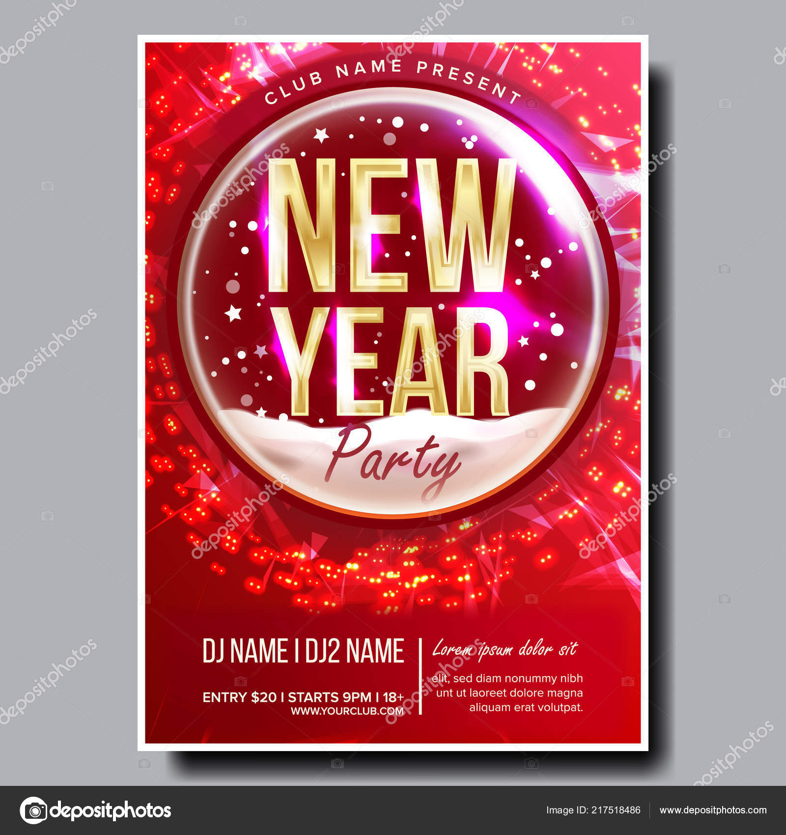 Christmas Concert Flyer 2019 Party Flyer Poster Vector