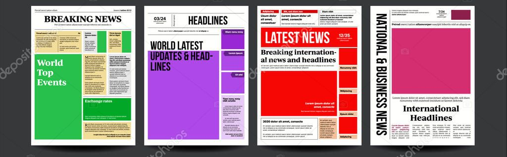 Tabloid Article Template from st4.depositphotos.com