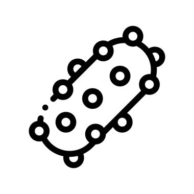 Virus Pathogen Element Vector Thin Line Sign Icon. Unhealthy Pathogen Microscopic Bacteria Linear Pictogram. Chemical Microbe Type Infection Microorganism Contour Monochrome Illustration icon
