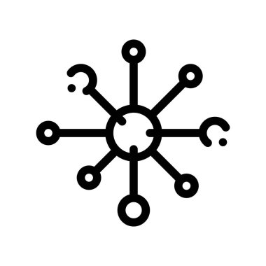 Microscopic Bacterium Germ Vector Thin Line Icon Sign. Unhealthy Virus Allergen Bacterium Linear Pictogram. Microbe Type Infection Biology Microorganism Contour Monochrome Illustration icon