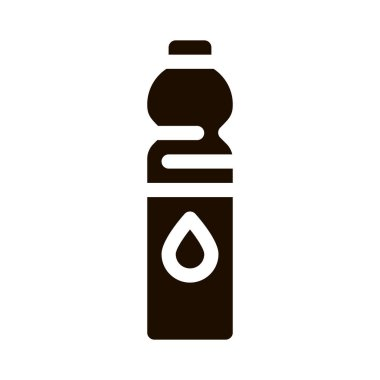 Water Bottle Sport Equipment Vector Icon. Sportsman Equipment Container With Healthy Liquid Pictogram. Dietary Protein Ingredient, Bar Bodybuilding Contour Illustration icon