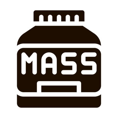 Mass Bottle Sport Nutrition Vector Icon. Bio Balancers Healthy Muscle Sportsman Nutrition Package Pictogram. Dietary Protein Ingredient, Bar Bodybuilding Contour Illustration icon