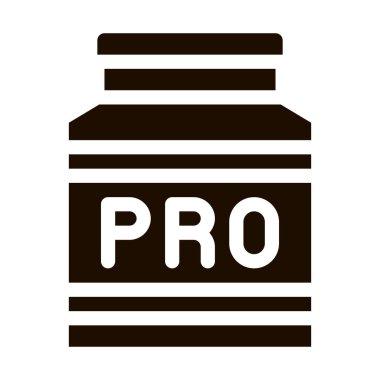 Bottle Pro Sport Nutrition Vector Icon. Bio Balancers Health Vitamin Sport Nutrition Pictogram. Dietary Protein Ingredient, Iso, Bar Bodybuilding Contour Illustration icon