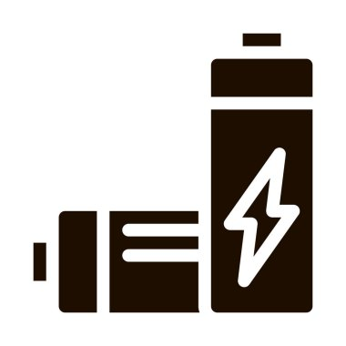 Useless Electric Battery Vector Icon. Battery Industrial Environmental Pollution, Chemical Contamination Pictogram. Dirty Soil, Water, Air Contour Illustration icon