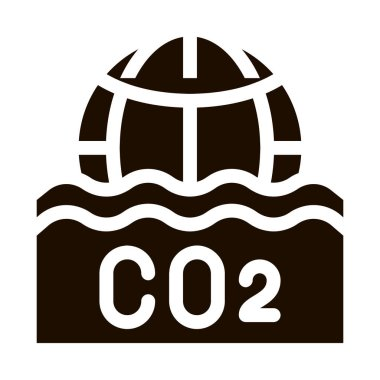 Co2 Smoulder Smoke Steam Vector Icon. Carbonic Oxide Co2 Dirty Air Environmental Problem, Industrial Pollution, Contamination Pictogram. Climate Change Contour Illustration icon