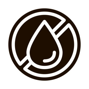 Allergen Free Trans Fat Vector Icon. Allergen Free Hydrogenated Pictogram. Crossed Out Mark Beverage Drop Healthy Produce. Black And White Contour Illustrations icon
