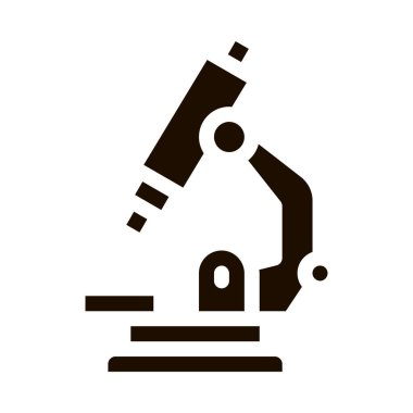 Medical Equipment Microscope Vector Icon. Medicine Laboratory Microscope Pictogram. Chemical Medical Microbe Type Infection Microorganism Contour Monochrome Illustration icon
