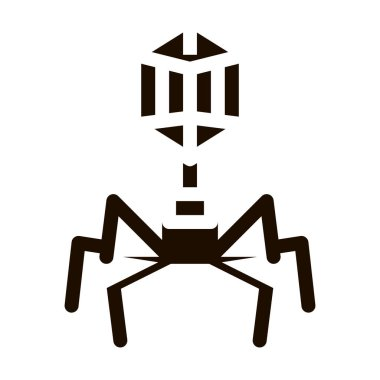 Disease Virus Pathogen Element Vector Sign Icon . Illness Pathogen Bacteria And Germ Pictogram. Chemical Medical Microbe Type Infection Microorganism Contour Monochrome Illustration icon