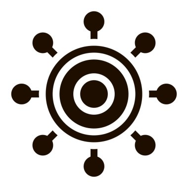 Danger Bacillus Bacteria Vector Icon. Kill Circle Micro Organism Bacteria Pictogram. Chemical Microbe Type Infection Microorganism Bacteriology Contour Monochrome Illustration icon