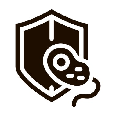 Safeguard Healthcare Bacteria Vector Sign Icon . Healthy Organism Bacteria Pictogram. Chemical Microbe Type Infection Microorganism Bacteriology Contour Monochrome Illustration icon