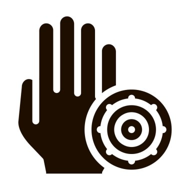 Bacteria Germ And Hand Vector Sign Icon. Infection Micro Organism On Dirty Hand Pictogram. Microbe Type Virus Biology Microorganism Contour Monochrome Illustration icon