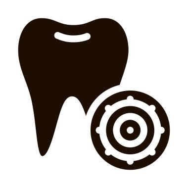 Bacteria Germ And Tooth Vector Sign Icon. Infection Micro Organism Dental Caries On Tooth Pictogram. Microbe Type Virus Biology Microorganism Contour Monochrome Illustration icon