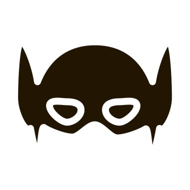 Super Hero Mask glyph icon vector. Super Hero Mask Sign. isolated symbol illustration icon